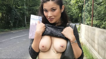 Miyuki Son - Outdoor sex under a railway bridge